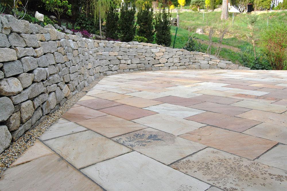 steinmauer und terrasse bisherige referenzen garten